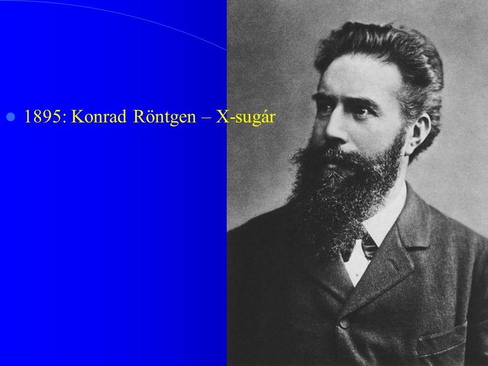 1895: Konrad Röntgen – X-sugár