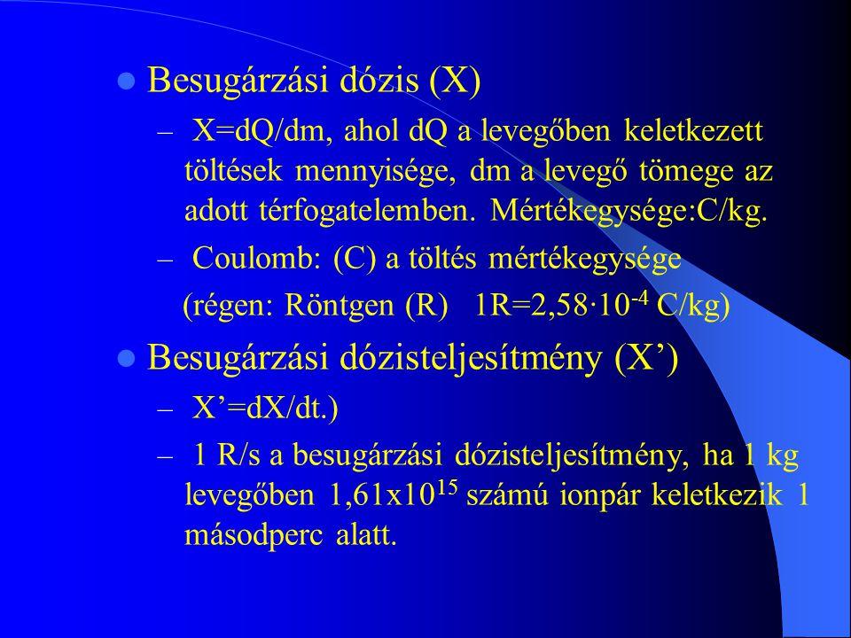 Besugárzási dózisteljesítmény (X')