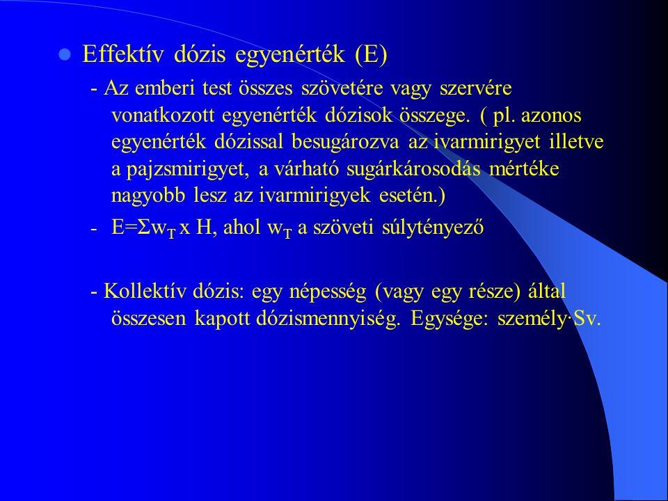 Effektív dózis egyenérték (E)