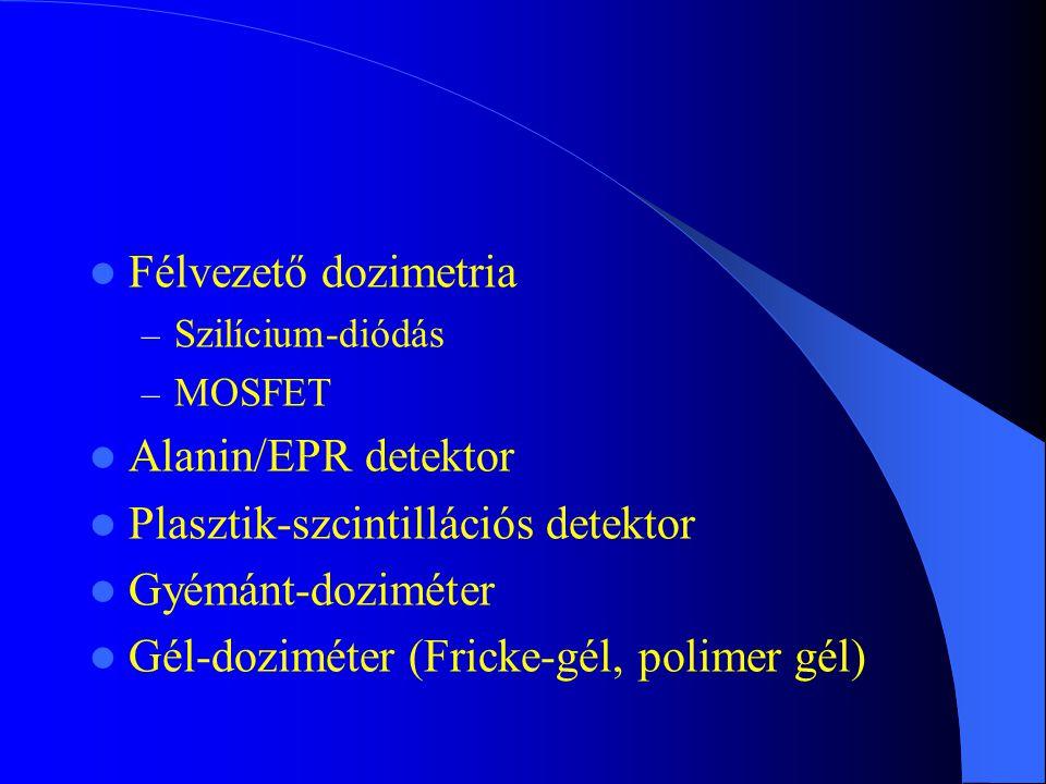 Plasztik-szcintillációs detektor Gyémánt-doziméter