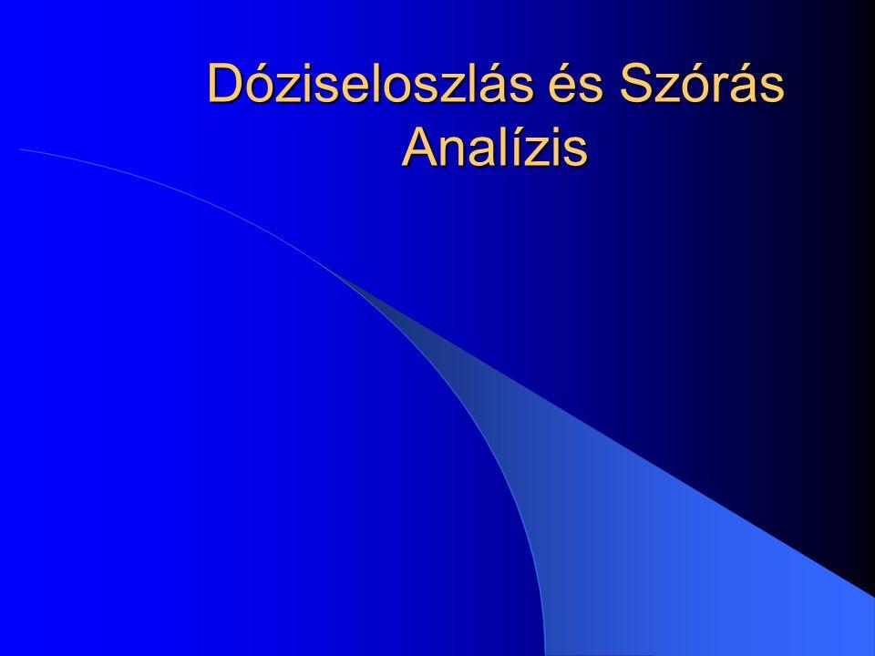 Dóziseloszlás és Szórás Analízis
