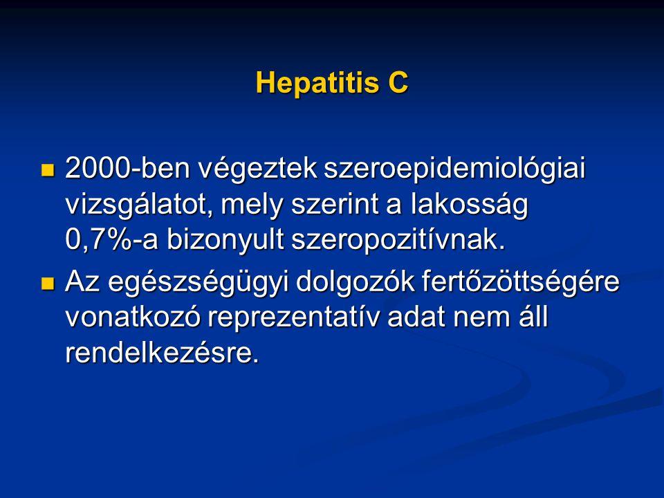 Hepatitis C 2000-ben végeztek szeroepidemiológiai vizsgálatot, mely szerint a lakosság 0,7%-a bizonyult szeropozitívnak.