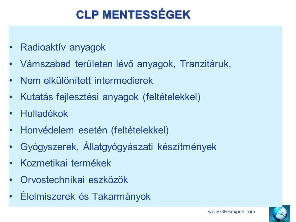 CLP MENTESSÉGEK Radioaktív anyagok