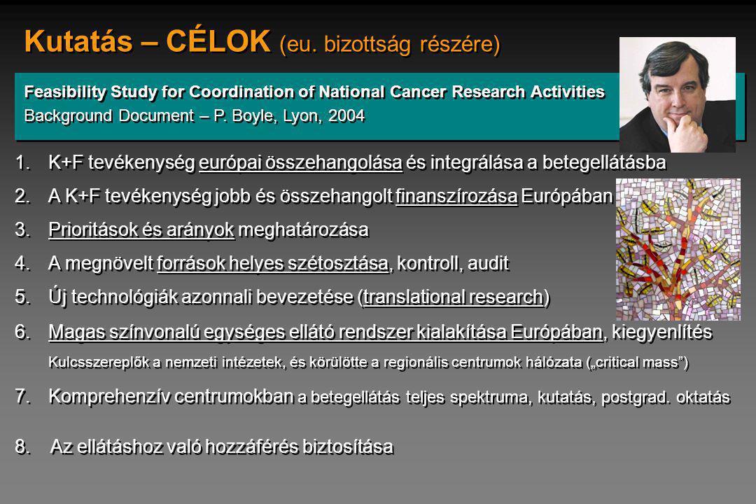 Kutatás – CÉLOK (eu. bizottság részére)