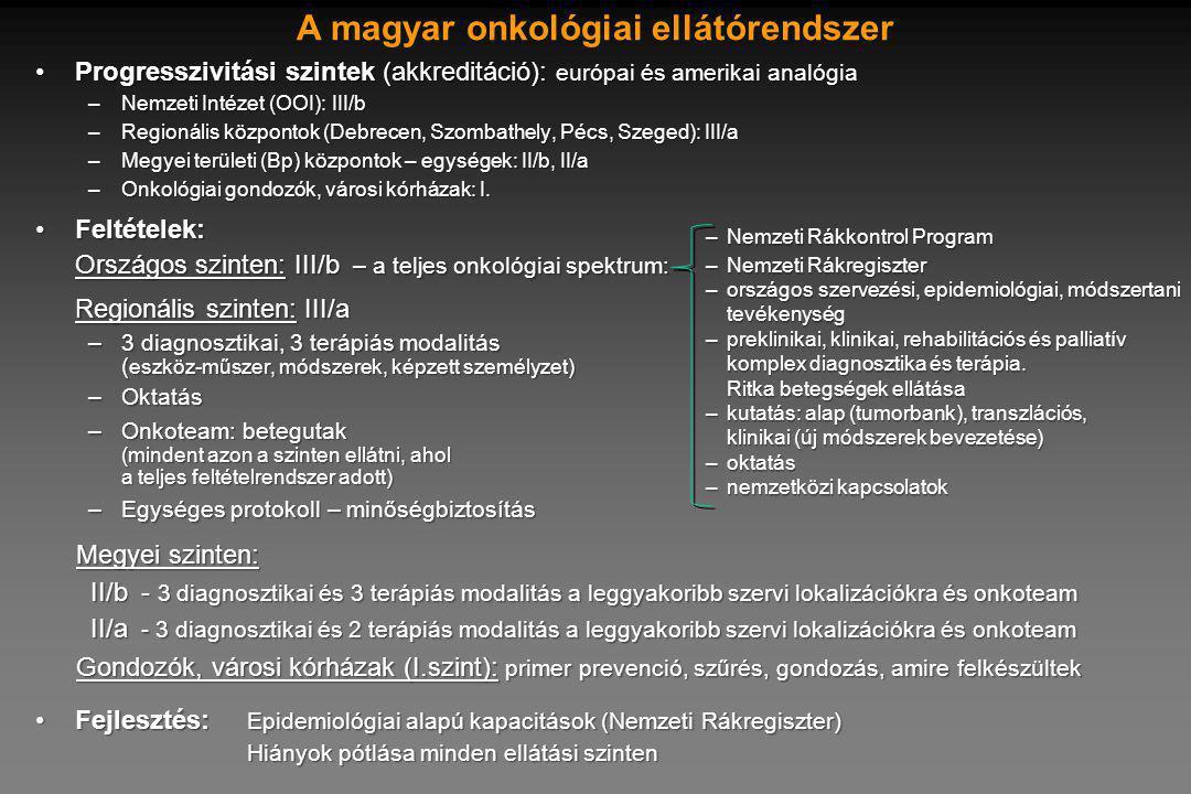 A magyar onkológiai ellátórendszer
