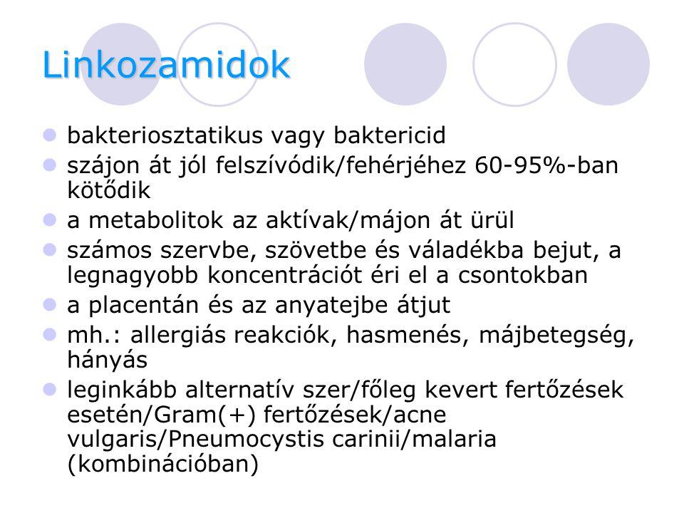 Linkozamidok bakteriosztatikus vagy baktericid