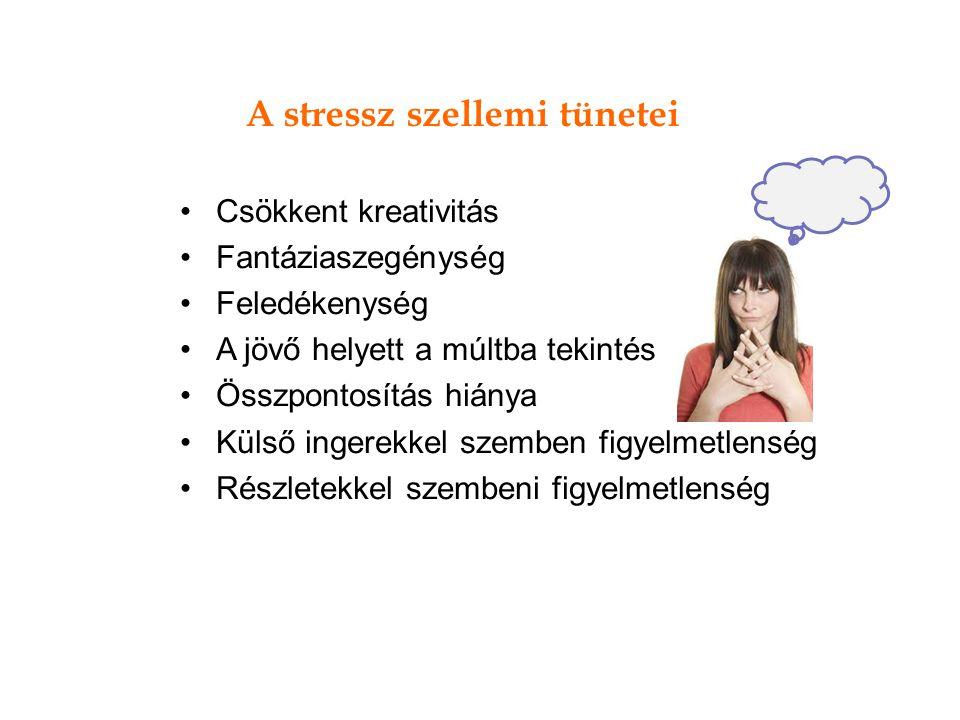 A stressz szellemi tünetei