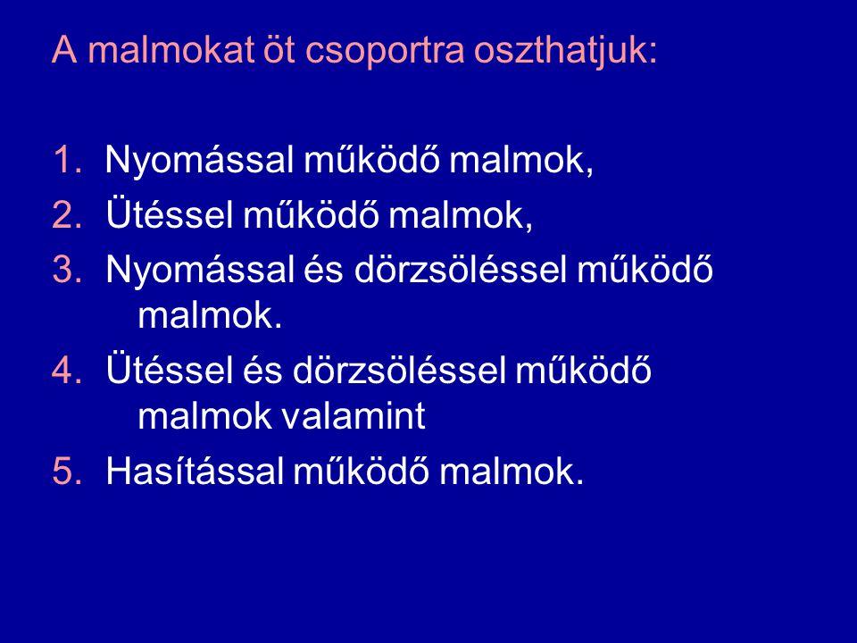A malmokat öt csoportra oszthatjuk: