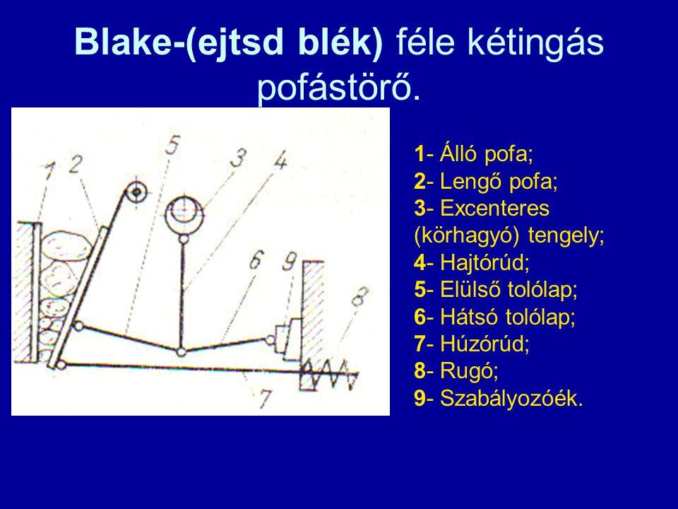 Blake-(ejtsd blék) féle kétingás pofástörő.