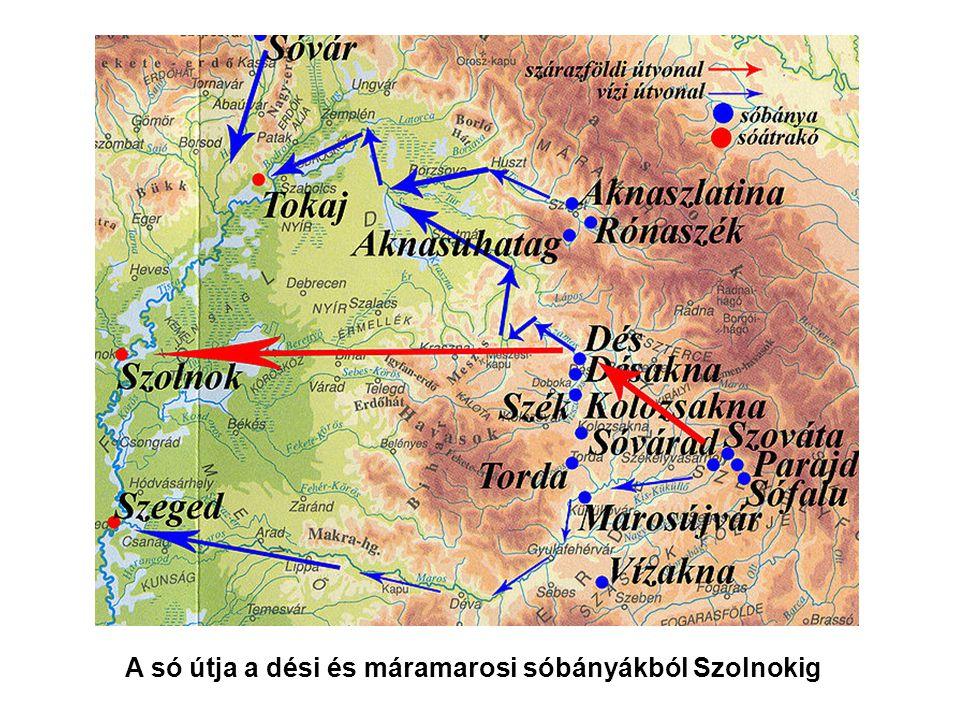 A só útja a dési és máramarosi sóbányákból Szolnokig