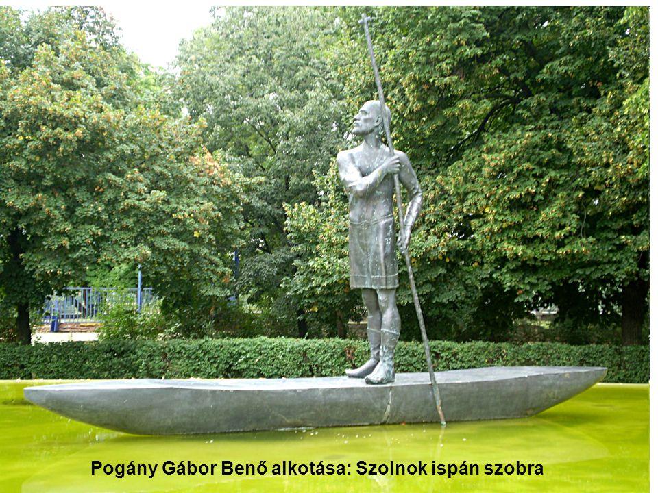 Pogány Gábor Benő alkotása: Szolnok ispán szobra