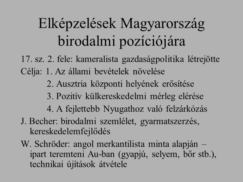 Elképzelések Magyarország birodalmi pozíciójára