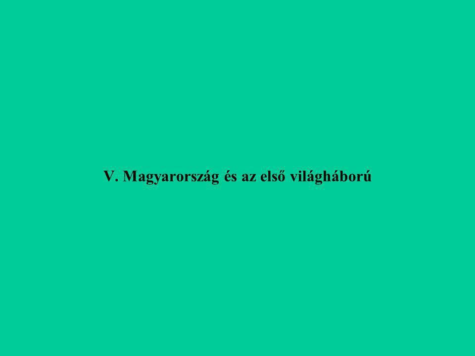 V. Magyarország és az első világháború