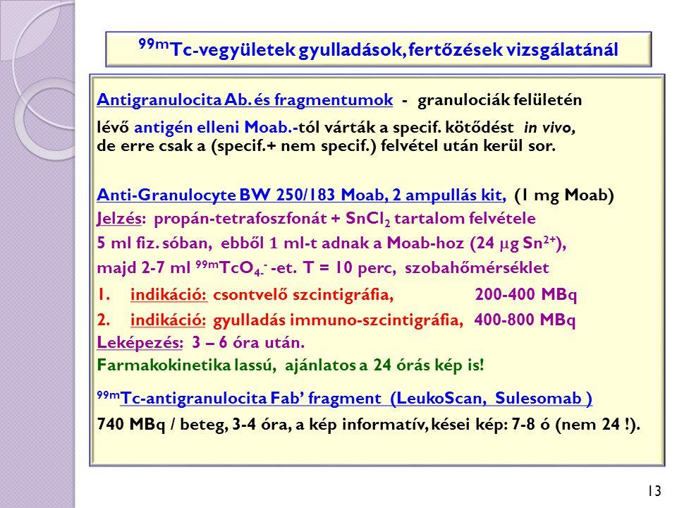 99mTc-vegyületek gyulladások, fertőzések vizsgálatánál