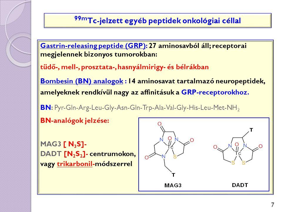 99mTc-jelzett egyéb peptidek onkológiai céllal