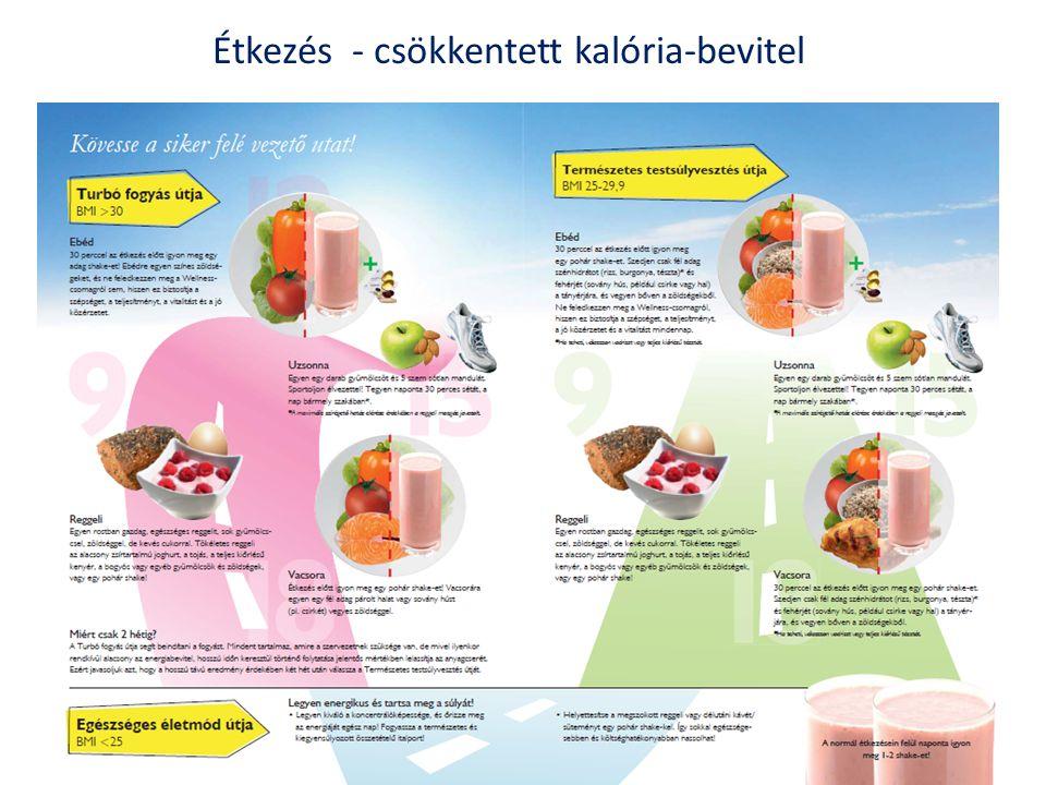 Étkezés - csökkentett kalória-bevitel