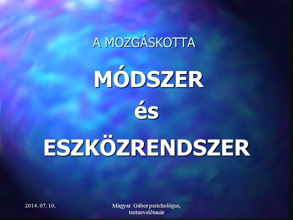 Magyar Gábor pszichológus, testnevelőtanár