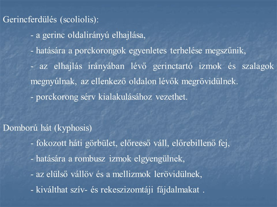 Gerincferdülés (scoliolis):