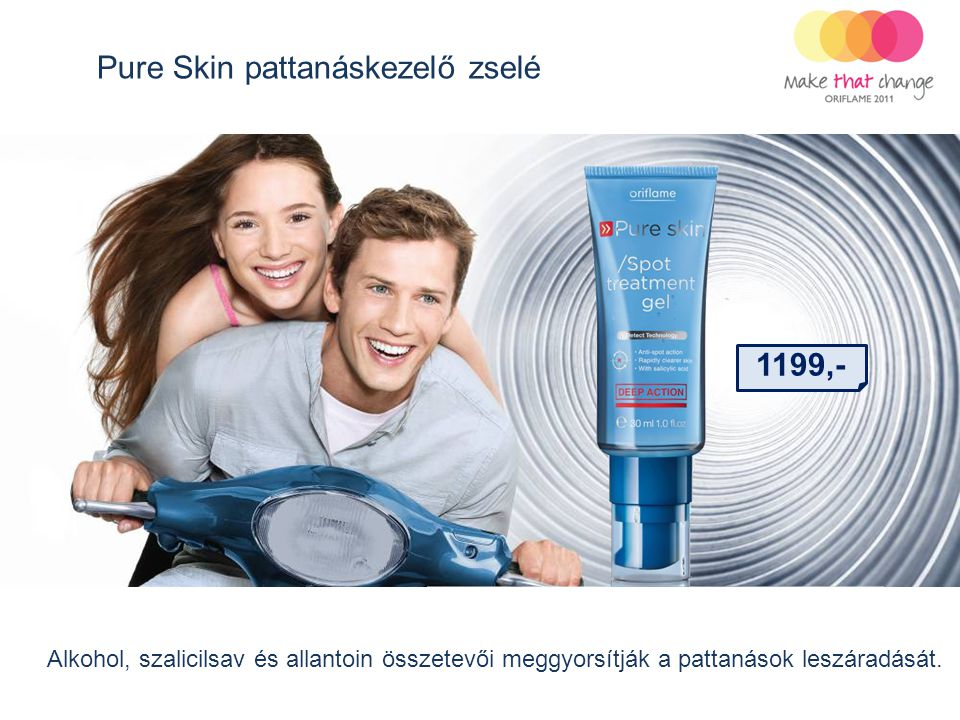 Pure Skin pattanáskezelő zselé