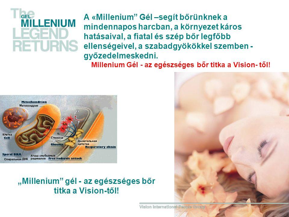"""""""Millenium gél - az egészséges bőr titka a Vision-től!"""