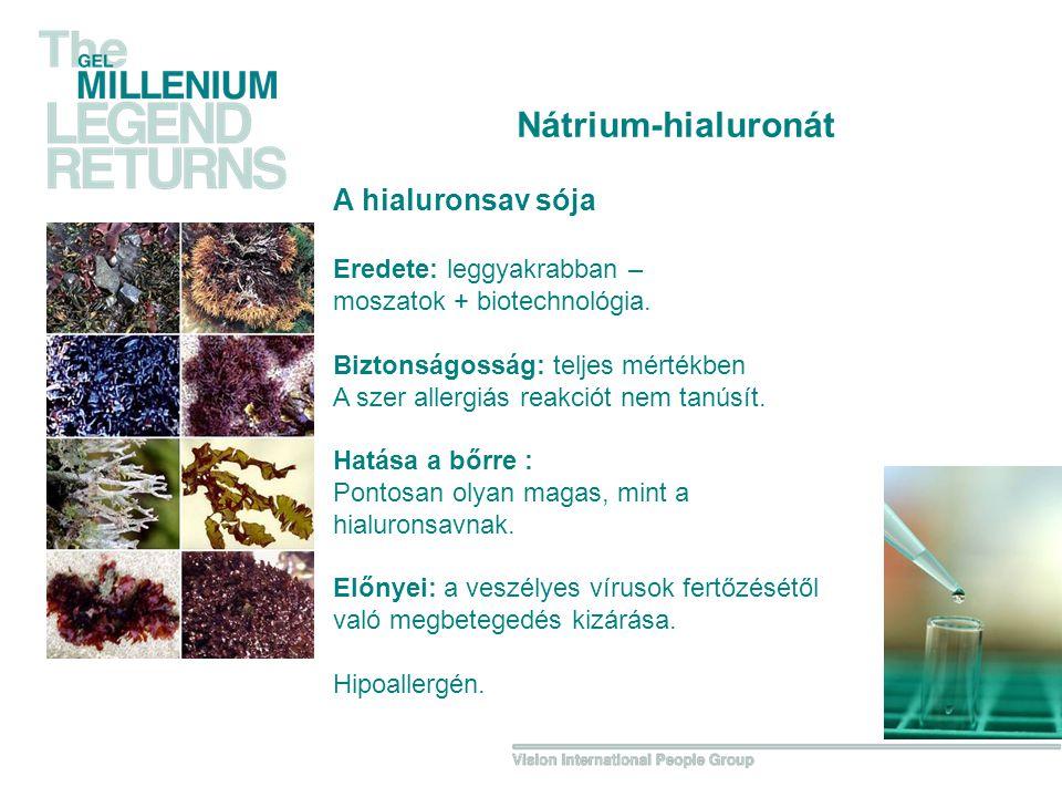 Nátrium-hialuronát A hialuronsav sója Eredete: leggyakrabban –