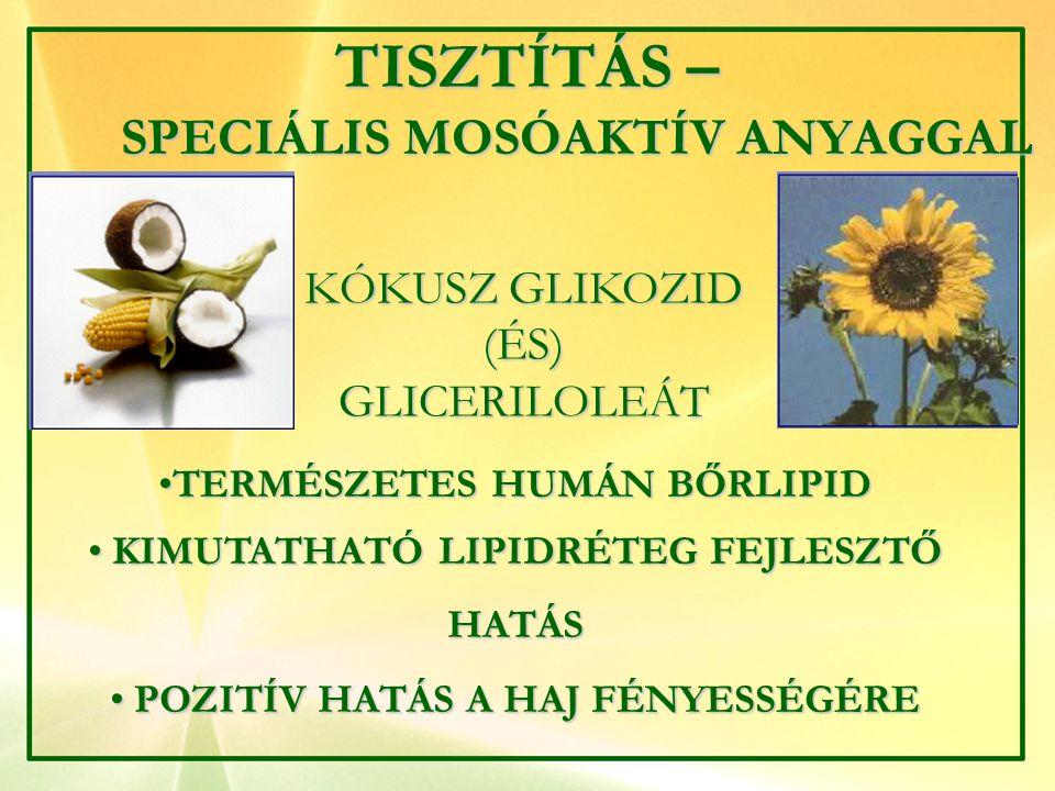 TISZTÍTÁS – SPECIÁLIS MOSÓAKTÍV ANYAGGAL