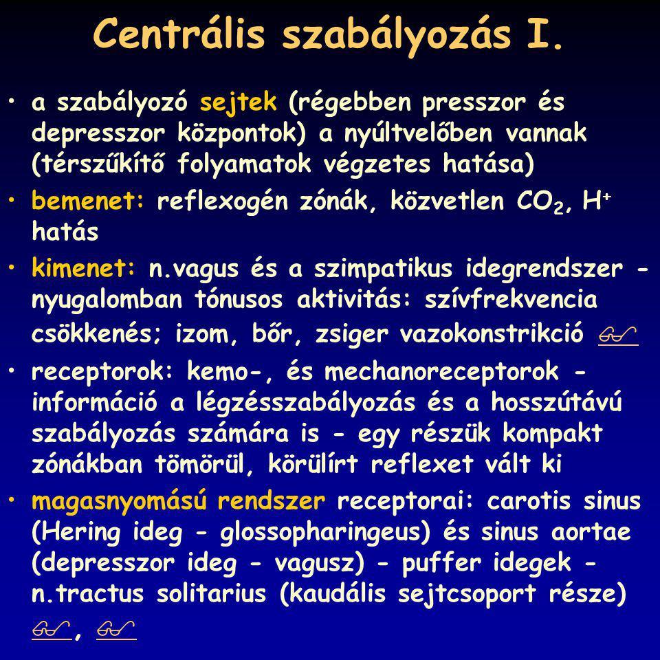 Centrális szabályozás I.