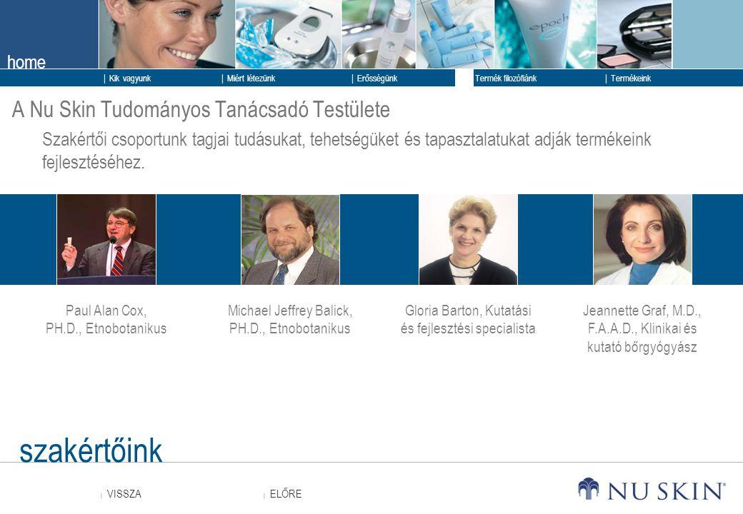 szakértőink A Nu Skin Tudományos Tanácsadó Testülete