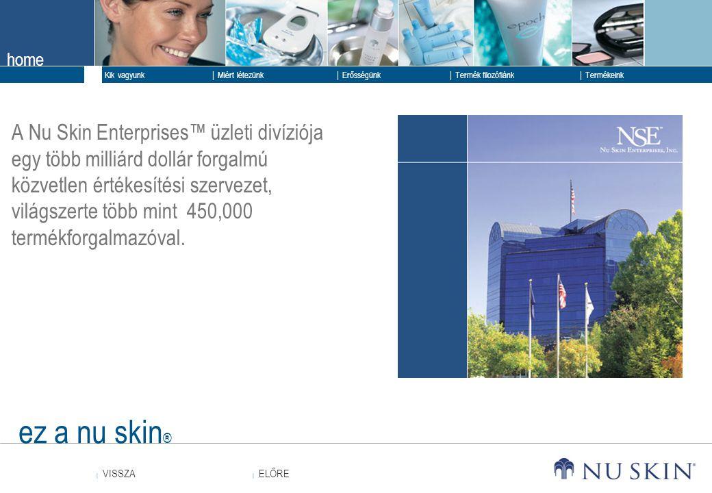 A Nu Skin Enterprises™ üzleti divíziója egy több milliárd dollár forgalmú közvetlen értékesítési szervezet, világszerte több mint 450,000 termékforgalmazóval.