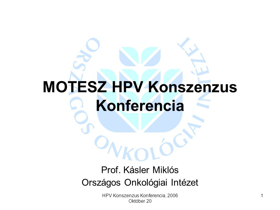 MOTESZ HPV Konszenzus Konferencia