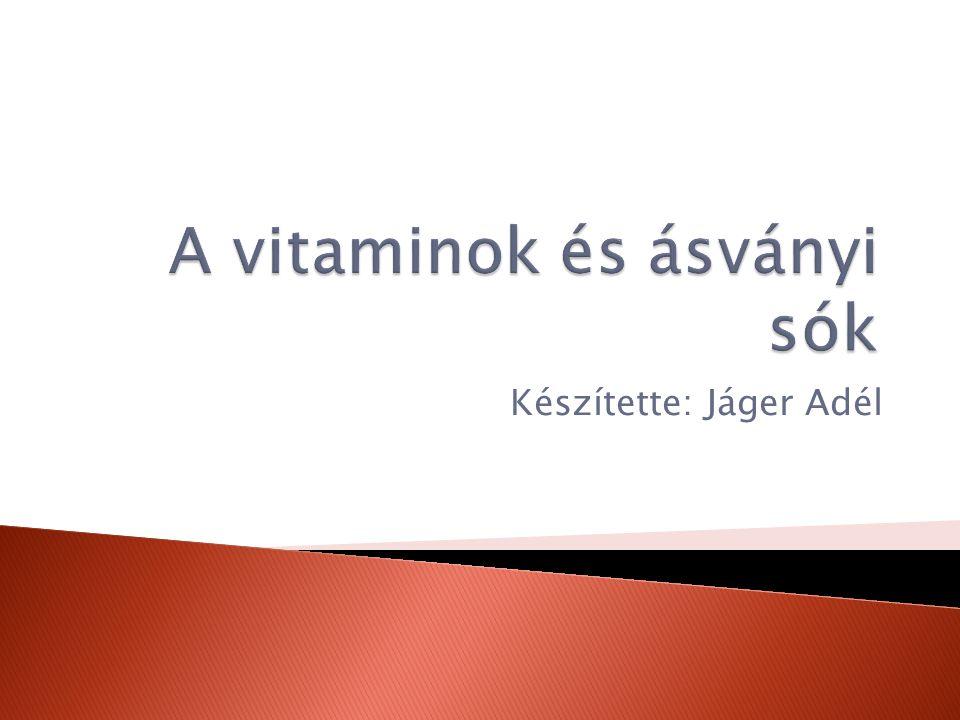 A vitaminok és ásványi sók