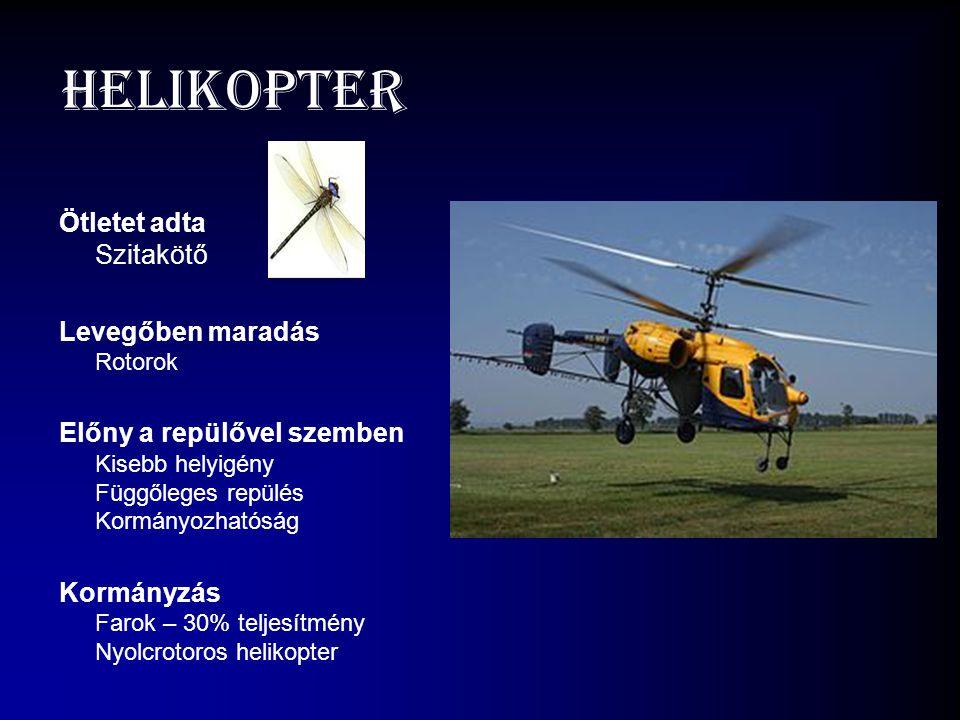 Helikopter Ötletet adta Szitakötő Levegőben maradás Rotorok