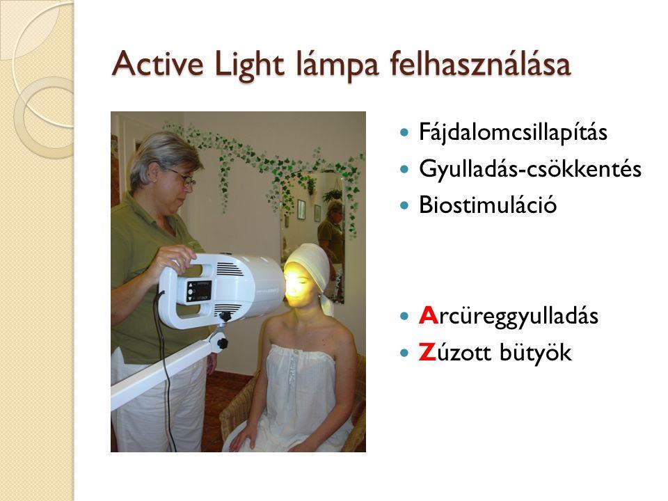 Active Light lámpa felhasználása