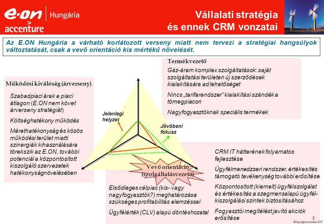 Működési kiválóság (árverseny) Vevő orientáció (szolgáltatásvezető)