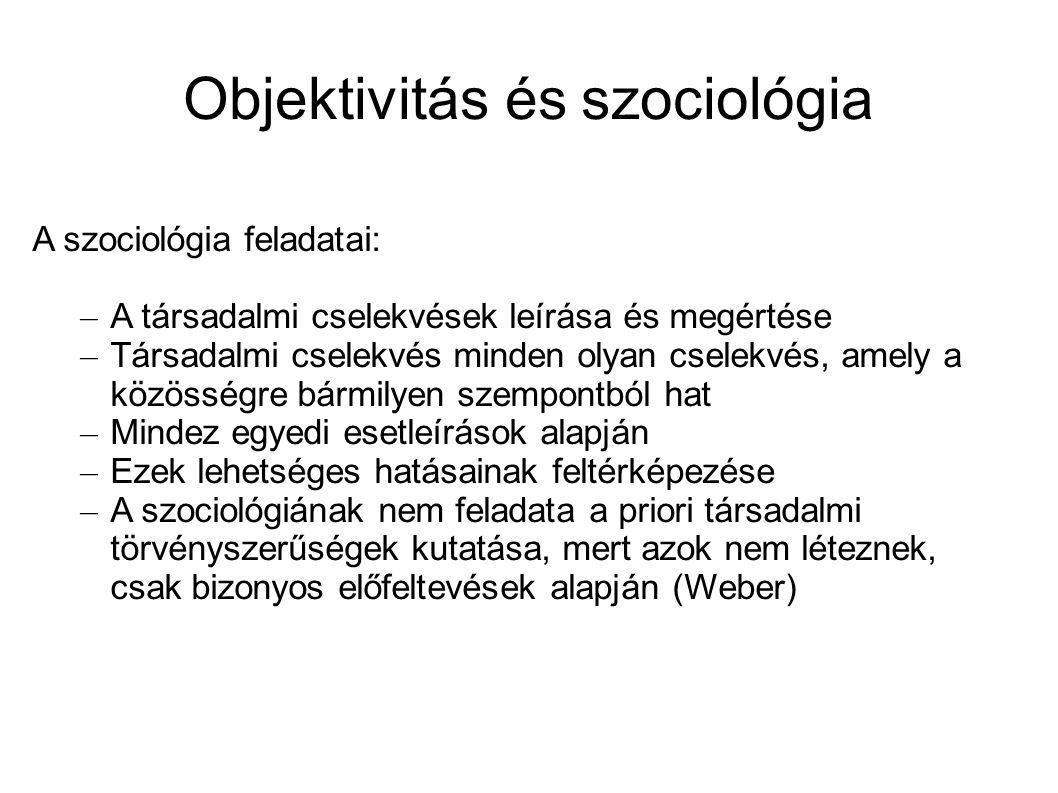 Objektivitás és szociológia