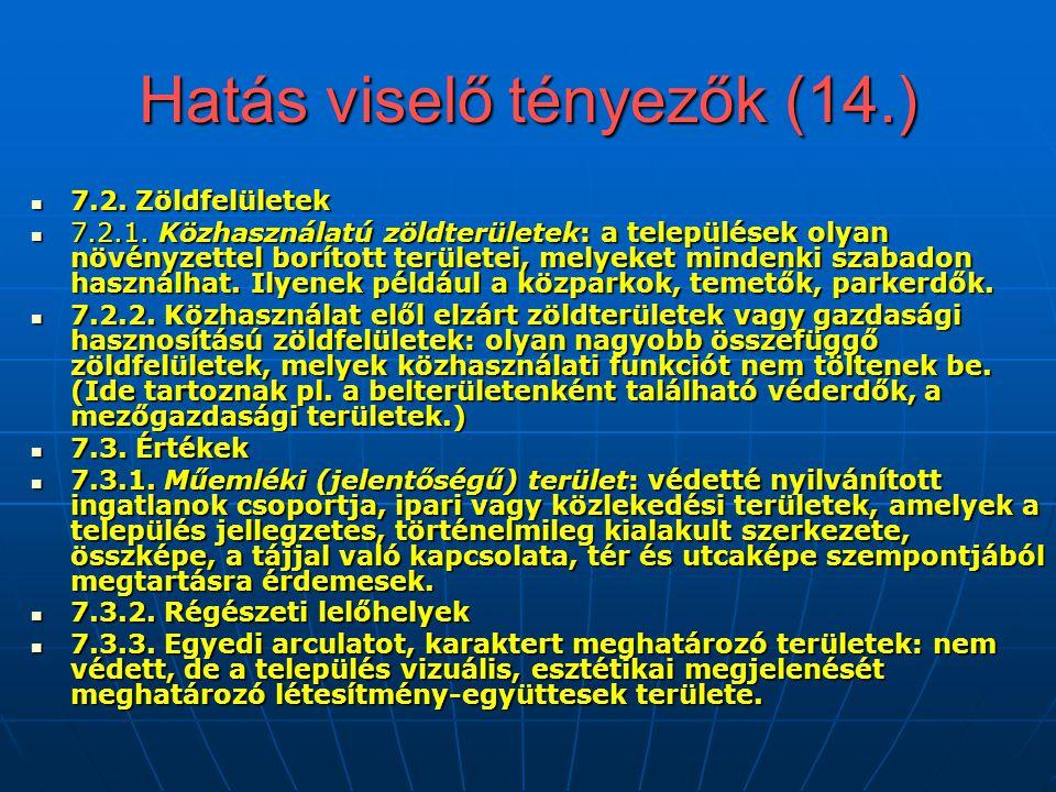 Hatás viselő tényezők (14.)