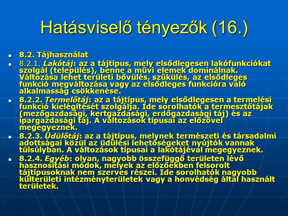 Hatásviselő tényezők (16.)