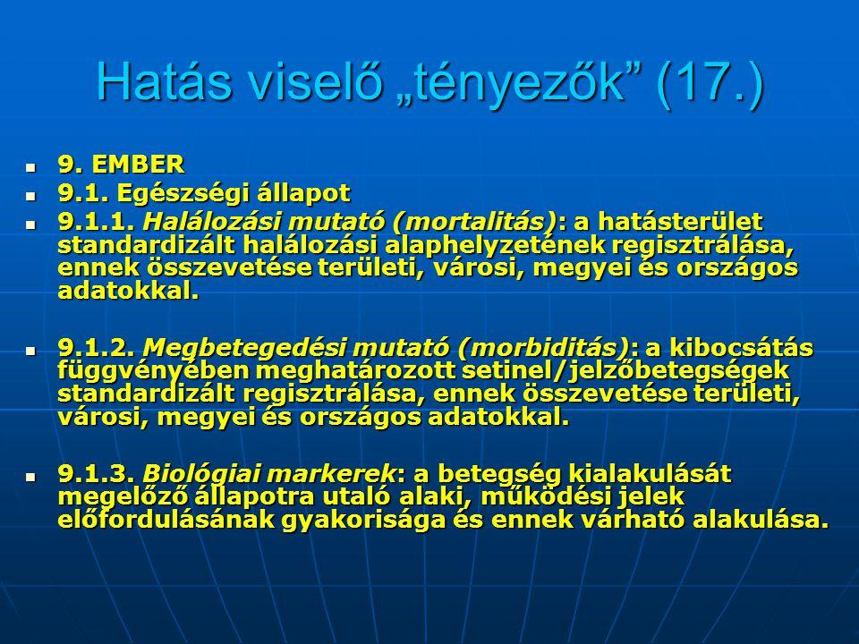 """Hatás viselő """"tényezők (17.)"""