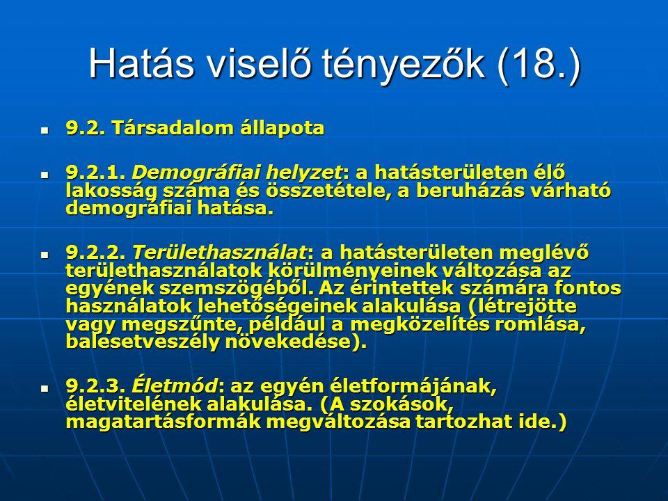 Hatás viselő tényezők (18.)