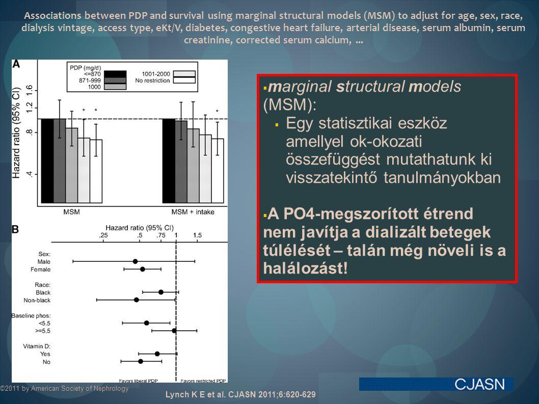 marginal structural models (MSM):