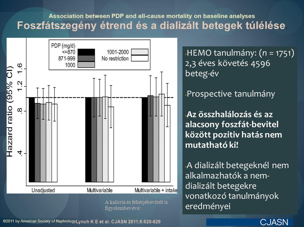 Foszfátszegény étrend és a dializált betegek túlélése.