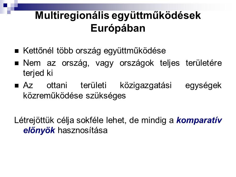 Multiregionális együttműködések Európában