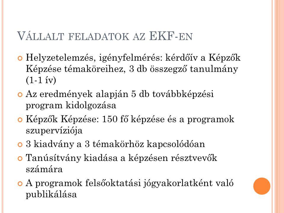 Vállalt feladatok az EKF-en