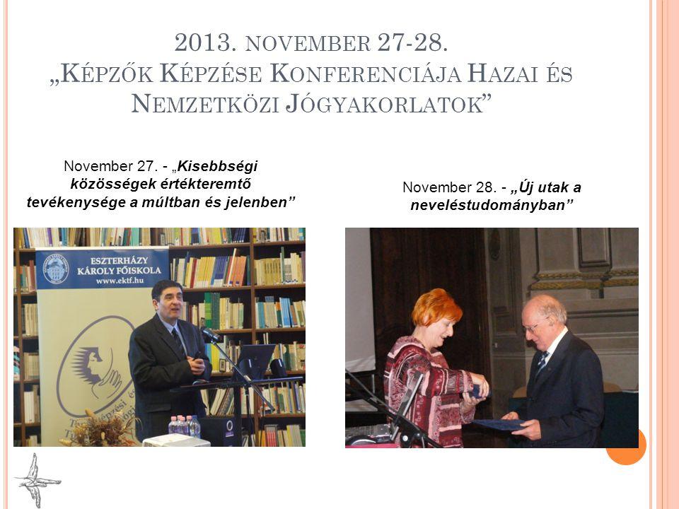 """November 28. - """"Új utak a neveléstudományban"""