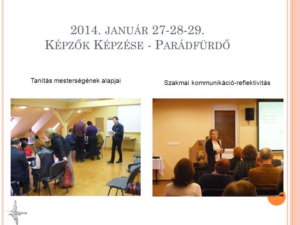 2014. január 27-28-29. Képzők Képzése - Parádfürdő