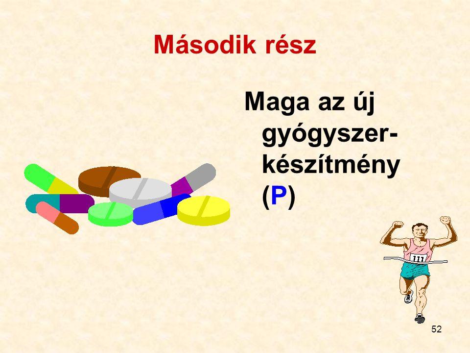Második rész Maga az új gyógyszer-készítmény (P)