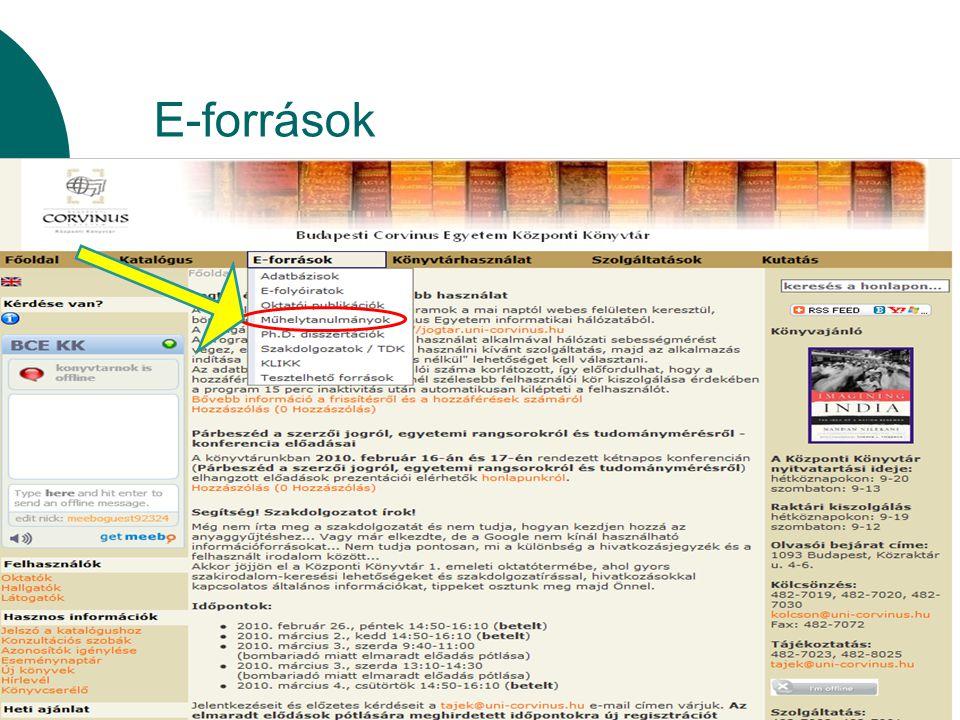 E-források