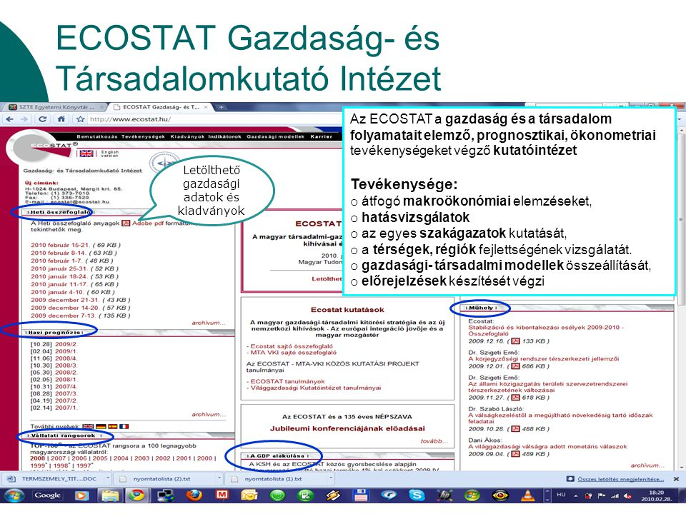 ECOSTAT Gazdaság- és Társadalomkutató Intézet