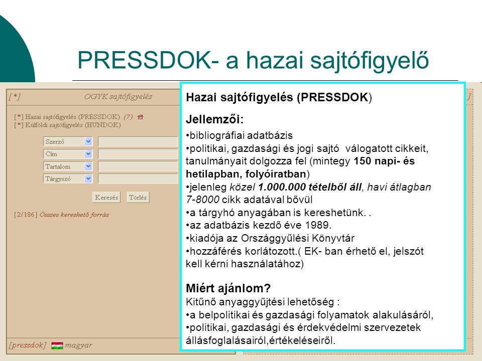 PRESSDOK- a hazai sajtófigyelő