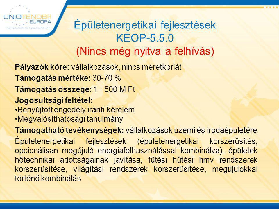 Épületenergetikai fejlesztések KEOP-5. 5